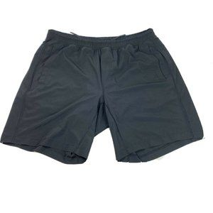 "Lululemon Mens 9"" Black Shorts Lined XL Zip Pocket"